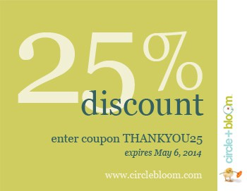 Circle+Bloom wishes you the most peaceful, joyful and restful holiday season with a special 25% coupon on all programs. Enter coupon code Holidays25 at checkout.