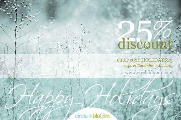 Circle + Bloom Holiday Coupon