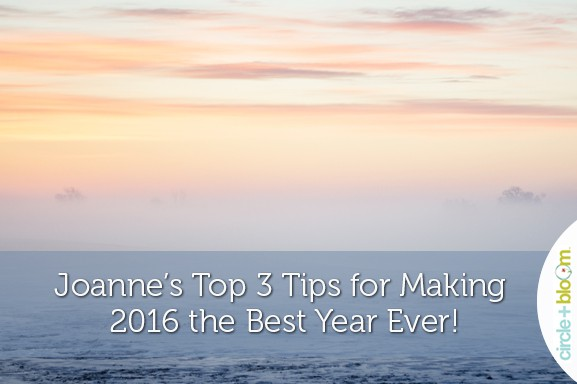 3 Top Tips 2016 from Circle+Bloom