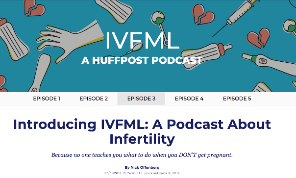 Huffington Post IVFML Infertility Podcast