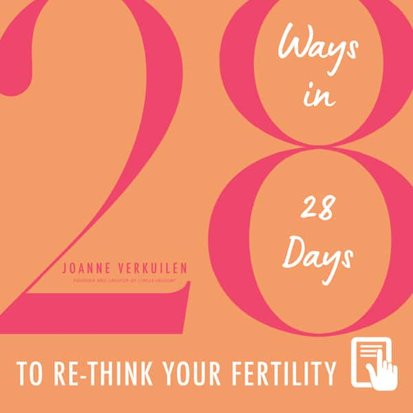 28 Ways In 28 Days to Re-think your Fertility eBook